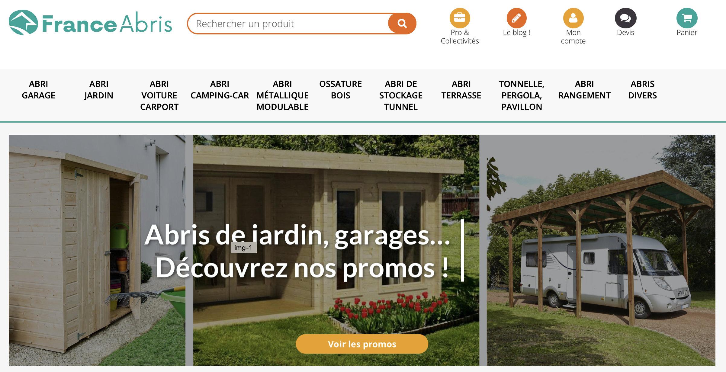 Homepage France Abris, numéro 1 français de l'abri de jardin
