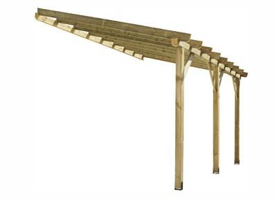 Abri terrasse adosse 418 x 270 x 306 cm et la livraison est offerte - Abri de terrasse en bois ...