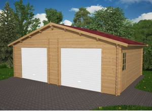 GARAGE DOUBLE EN BOIS 43 MM ::::::::: 7,00 X 5,80 M