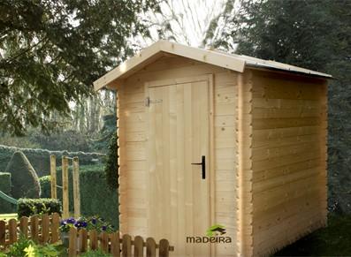 abri de jardin bois madrier 19mm 1 78 x 1 78 m. Black Bedroom Furniture Sets. Home Design Ideas