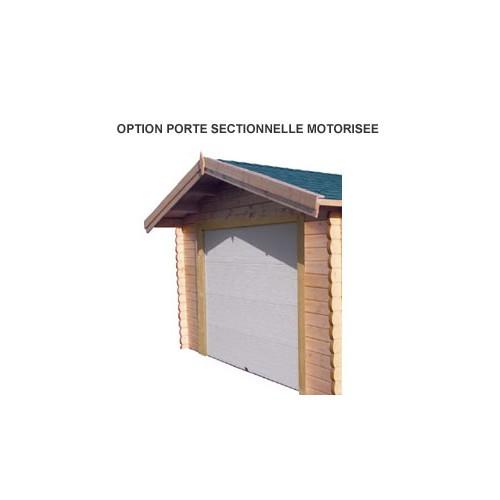Garage en bois porte sectionnelle basculante motoris e - Prix porte garage sectionnelle motorisee ...
