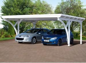 Abri voiture bois carport pas cher 1 ou 2 voitures - Carport double adosse ...
