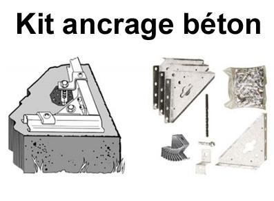 Kit d 39 ancrage beton pour abri de jardin metal - Comment fixer un goujon d ancrage ...