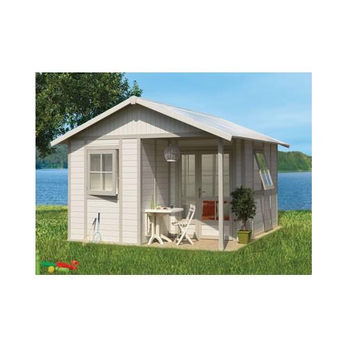 chalet de jardin pvc deco garantie grosfillex. Black Bedroom Furniture Sets. Home Design Ideas