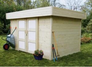 Des abris de jardin en bois porte coulissante for Porte abri de jardin en bois