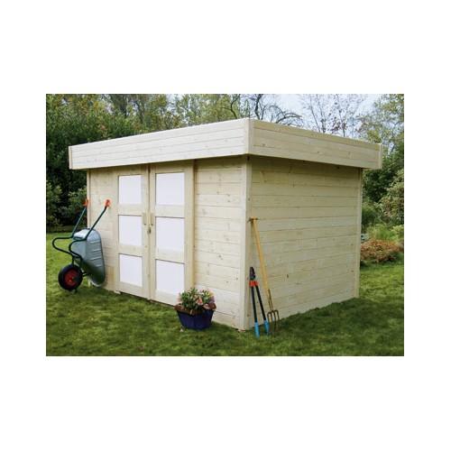 Abri de jardin en bois 28 mm mettez a l 39 abri votre for Abri outillage jardin