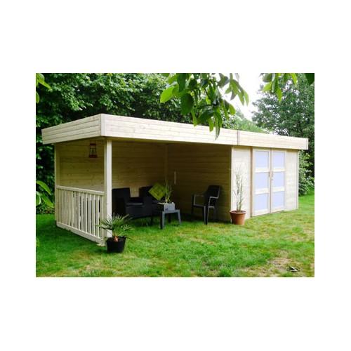 Abri de jardin en bois 28 mm un abri ferm un espace for Abri bois ferme