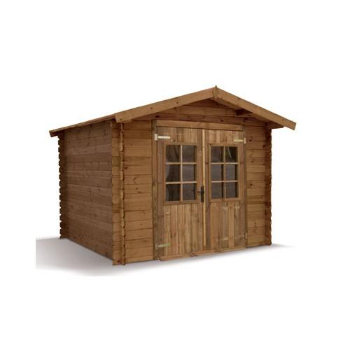 Abri jardin bois trait autoclave et teint madrier for Chalet autoclave