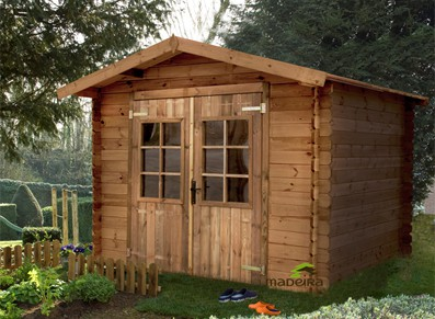 Abri jardin bois trait autoclave et teint madrier for Abri bois traite