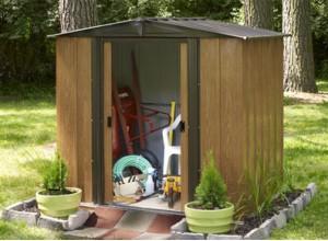 Abri jardin metal bois pvc moto et v lo pour jardins for Abri jardin metallique