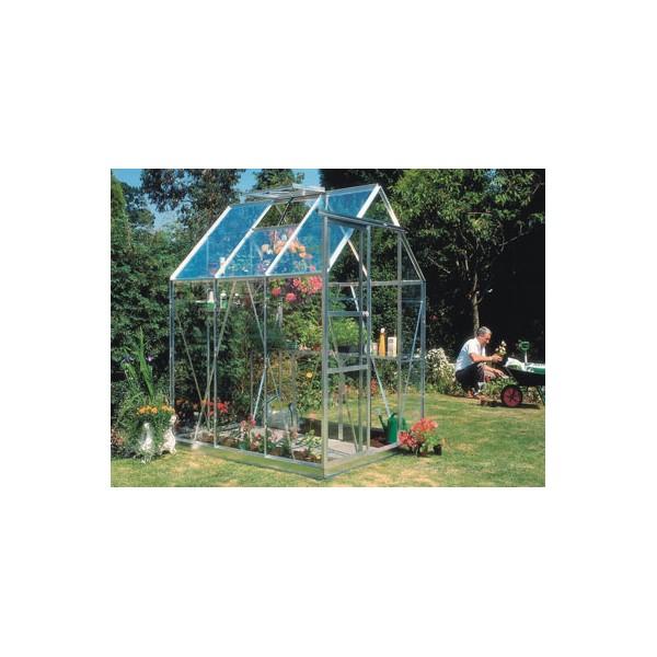 Serre en verre tremp 3mm 3 m2 pour jardins embase for Verre securit prix m2