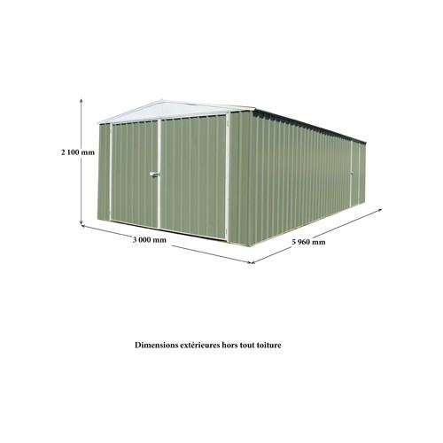Garage m tal grande hauteur 3 x 6 m un abri robuste pour for Garage tunnel metallique