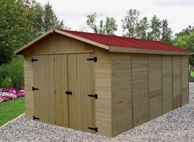 Garage bois premier prot gez votre v hicule pas cher for Garage bois autoclave