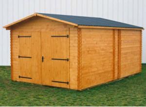 Garages voiture abri garage bois metal kit pas cher for Garage pour camping car en bois