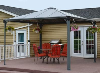 tonnelle couverture terrasse en aluminium 3 60 x 3 60 m. Black Bedroom Furniture Sets. Home Design Ideas