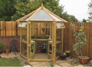 serre jardin en bois verre tremp naturel ou c dre. Black Bedroom Furniture Sets. Home Design Ideas