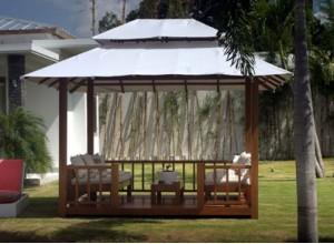 gazebo une tonnelle ou kiosque de jardin aussi pour piscine et spa. Black Bedroom Furniture Sets. Home Design Ideas