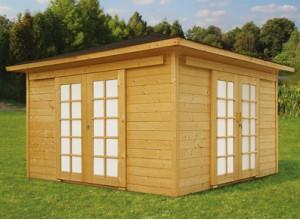 des abris de jardin en bois porte coulissante. Black Bedroom Furniture Sets. Home Design Ideas