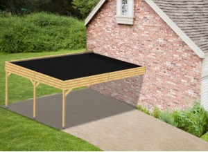 CARPORT DOUBLE ADOSSE  :::::::::::: 5,6 x 6 M