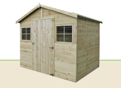Abri de jardin bois panneaux 2 60 x m for Cabanon en bois 20m2