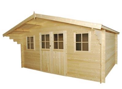 Abri de jardin bois m m 34 mm 4 65 x 5 11 m - Plexiglass prix m2 ...