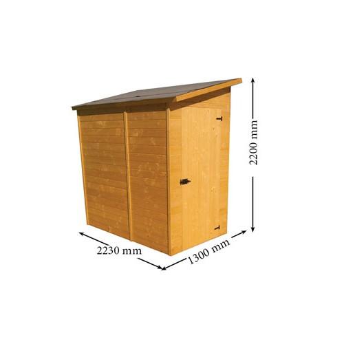 abri en bois pour v los et motos 1 30 x 2 23 m. Black Bedroom Furniture Sets. Home Design Ideas