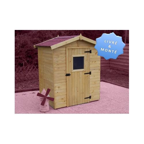 abri de jardin en bois avec structure en panneau 16 mm plancher inclus. Black Bedroom Furniture Sets. Home Design Ideas