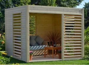 Pavillon terrasse et kiosque de jardin un nouvel espace for Kiosque exterieur design