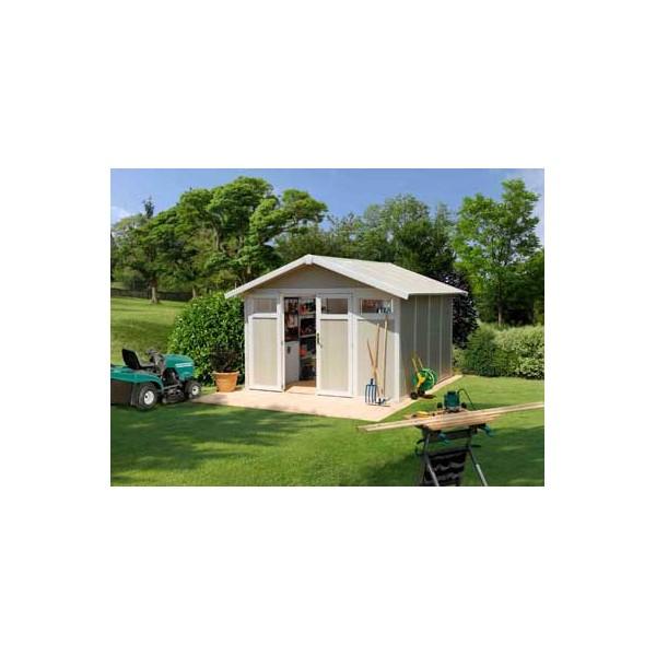 Abri jardin pvc utility 11 gamme grosfillex sans for Abri jardin sans entretien