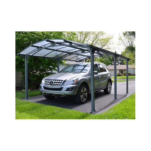 carport metal toit berceau l 39 abri voiture id al pour. Black Bedroom Furniture Sets. Home Design Ideas