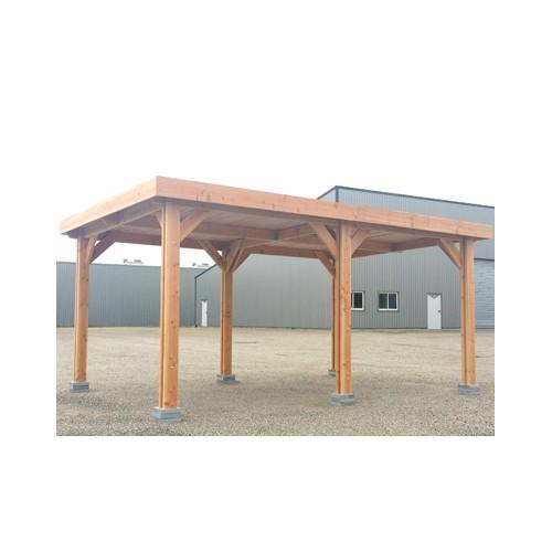 Abri voiture bois douglas toit plat for Abri bois toit plat