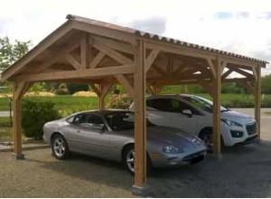 abri voiture bois carport pas cher 1 ou 2 voitures. Black Bedroom Furniture Sets. Home Design Ideas
