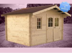 abri jardin bois mont livr et install promo. Black Bedroom Furniture Sets. Home Design Ideas