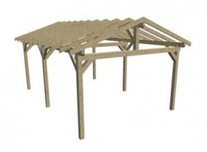 Charpente en bois 2 pentes structure tuilable direct usine for Carport 2 posti