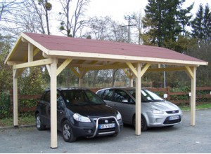 abri voiture bois carport pas cher 1 ou 2 voitures carport double pente. Black Bedroom Furniture Sets. Home Design Ideas
