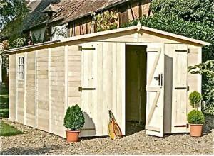 Garage bois kit construction en panneau ou madrier massif pas cher - Garage en bois pas cher ...