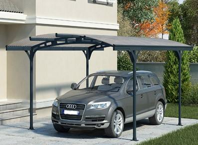 abri voiture en acier tr s design. Black Bedroom Furniture Sets. Home Design Ideas