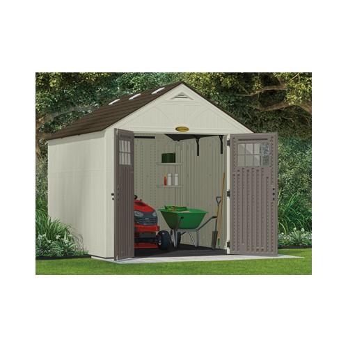 Abri de jardin en r sine moderne avec plancher inclus for Abri de jardin en resine