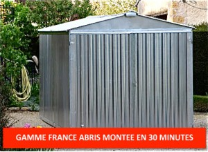 Garage metal france abris brut 2,54 x 5,14 m