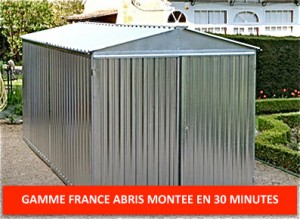 Garage metal france abris brut 2,54 x 6,00 m