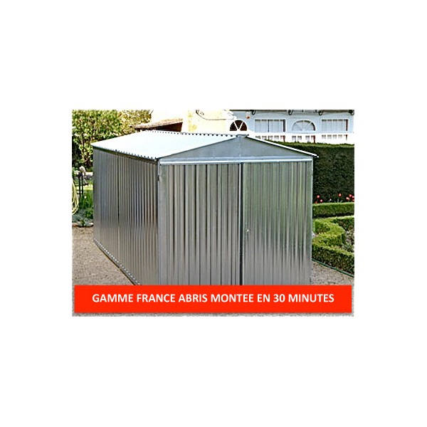 Garage metal 6 m acier galvanis montage facile large for Garage tunnel metallique