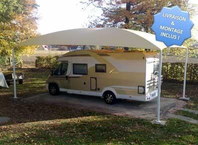 abri camping car un carport grand mod le c4 10 m de long livr mont garantie 10 ans. Black Bedroom Furniture Sets. Home Design Ideas
