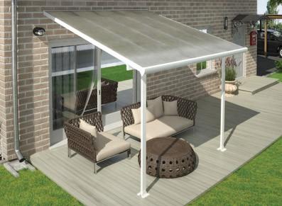 Toit terrasse abri adosse aurore de 4 x 3m livraison offerte - Abri terrasse alu polycarbonate ...