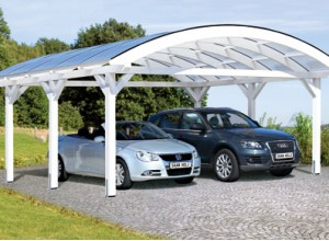 CARPORT TOIT ARC DOUBLE :::: 6.35 X 5.41 M