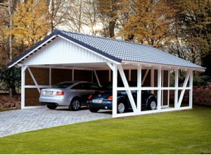 CARPORT COLOMBAGES DOUBLE :::: 6.84 X 7.72 M