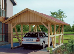 CARPORT COLOMBAGES SIMPLE :::::::: 4.24 X 6.00 M
