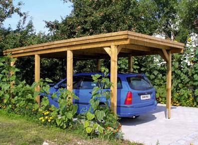 abri voiture toit simple 3 m par 5m50 poteaux 11 5 x 11 5. Black Bedroom Furniture Sets. Home Design Ideas