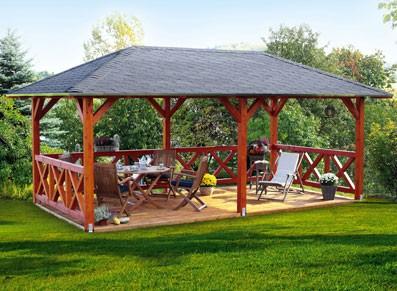 Pavillon orleans x 3 74 m - Abri de jardin pavillon ...