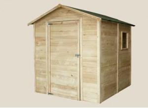 Abri jardin bois abris brut ou autoclave pour jardins promo - Abris jardin discount ...