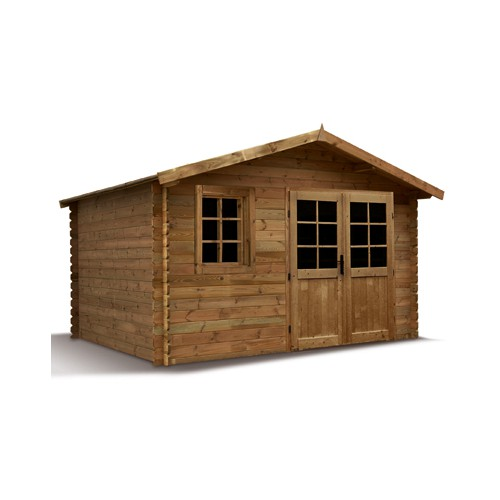 Abri jardin bois trait autoclave 3 madrier 28 mm promo - Plexiglass prix m2 ...